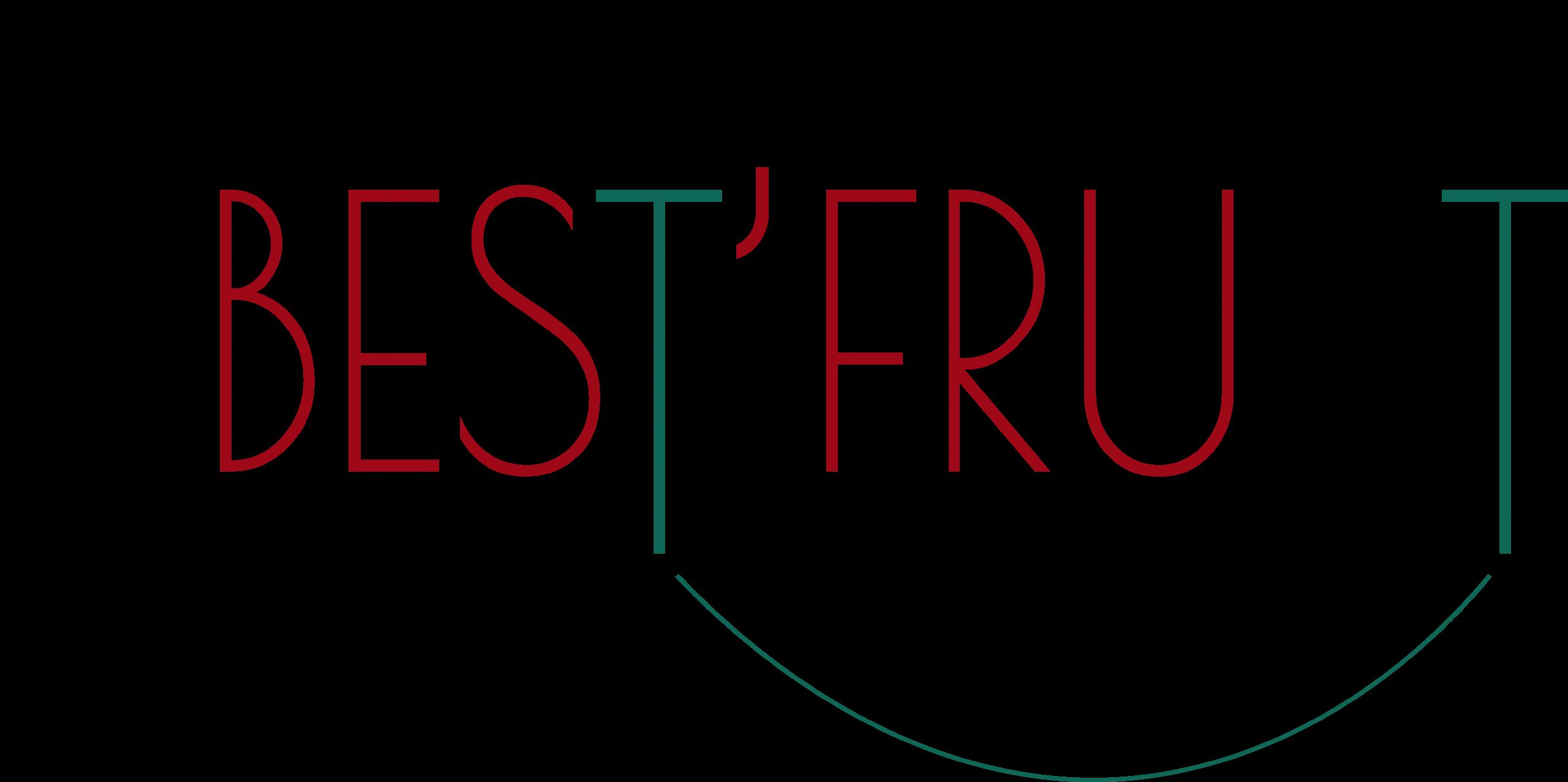LOGO de best fruit pomme , trognon de pomme et panier
