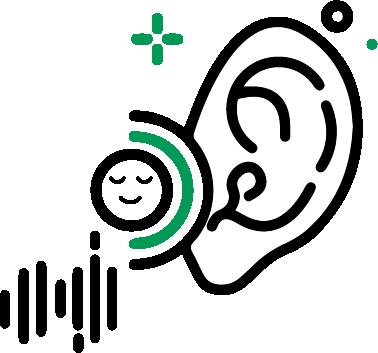 pictogramme illustration empathie écoute oreille bienveillance